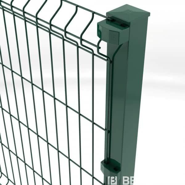 Nos poteaux carrés Nylofor sont galvanisés et plastifiés. Ils sont prépercés et munis d'inserts. Ils sont compatibles avec tous types de panneaux, dont la pose se fera en applique.Leur rigidité et leurs nombreux acccessoires complémentaires sont leurs principaux atouts.