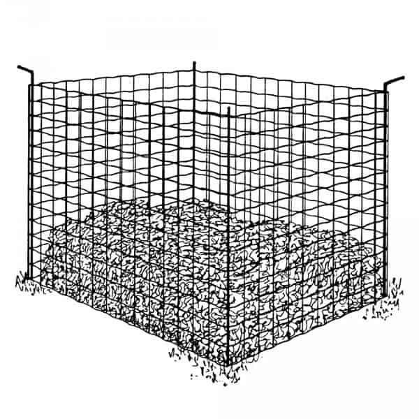 Cage silo à compost