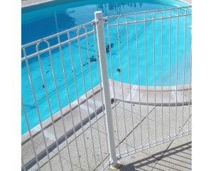 Poteau pour panneau cloture piscine