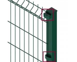 Fixation pour panneaux à plis sur poteaux Nylofor