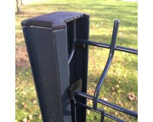 Poteau clôture aluminium Bipalu