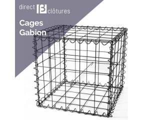 Cage gabion pour le jardin