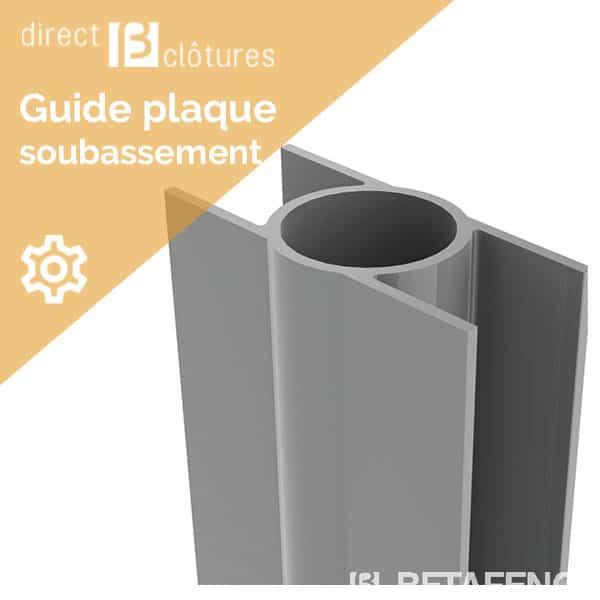 Guide plaque pour poteaux Ø 48 mm