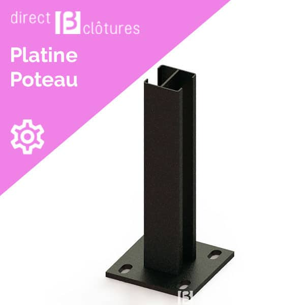 Platine pour poteaux carrés 60x60