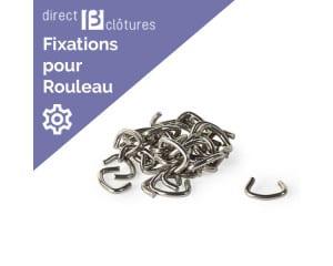 Clips inox pour fixation clotures en rouleaux