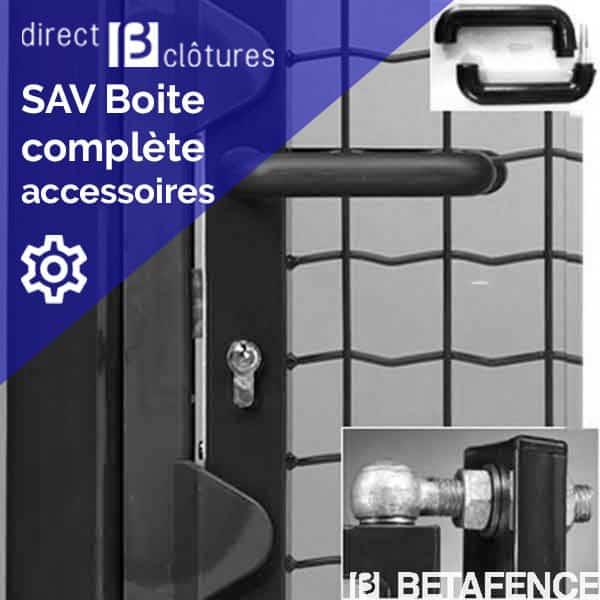 Modèle Fortinet/Bekafor avant 2012 : Boite accessoires portillon