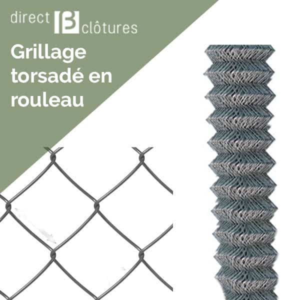 Rouleaux simple torsion Galvanisé