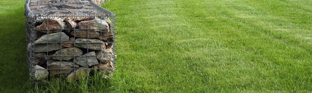 Am nagement jardin gabions treillis tendoir linge directcl tures - Jardin cloture amenagement ...