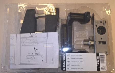 Emballage des accessoires du portillon