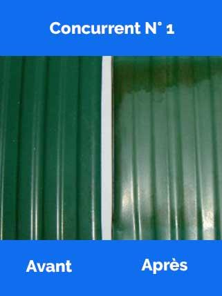 Test qualité lames PVC concurrent 1 coloris vert