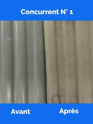 Test qualité lames PVC concurrent 1