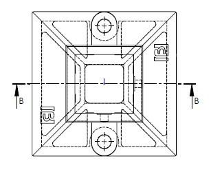 platine nylofor poteaux carrés