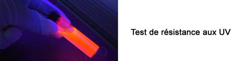 Vérifiez la qualité des tests de résistance aux UV