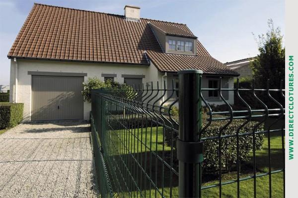 Exemples de clotures et portails de nos clients directclotures directcl tures - Cloture jardin pour chien nice ...