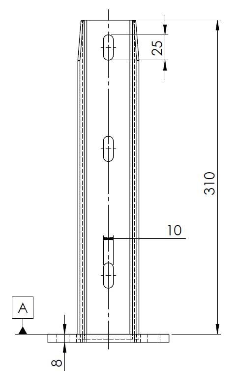 platine bekafix pour poteaux de cl ture directclotures. Black Bedroom Furniture Sets. Home Design Ideas
