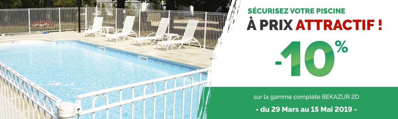 Clotures piscine Bekazur en promotion