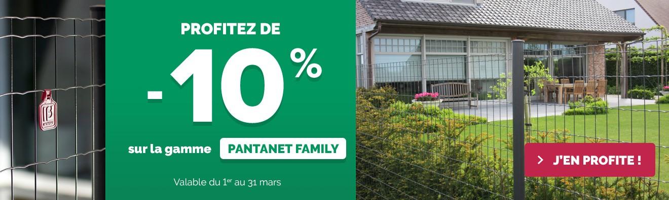 Promotion Mars 2019 - Tout le Pantanet Family à - 10 %